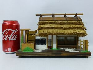 Vintage Japanese Country Wooden House Model Hand Made Very Good