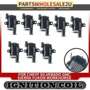 8x Ignition Coil Pack For Chevy Silverado Gmc Sierra Cadillac Buick H2 19005218