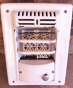 Gas Heater Porcelain White Enamel Wall International Metal Products Texas Made