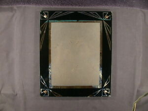 Vintage Art Deco Reverse Painted Glass Frame