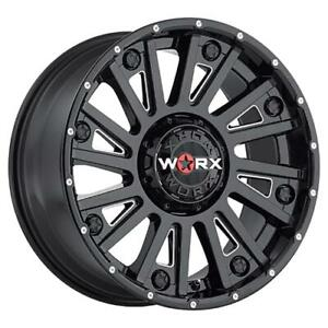 4 20x9 Black Worx Sentry 810bm 8x170 18 Nitto Terra Grappler G2 305x50r20 Rim