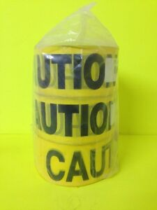 Yellow Caution Tape 3 Wide1000ft Rolls 3 Pk
