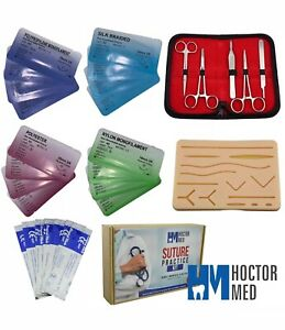 Suture Practice Kit For Suturing Training Advanced 30 Piece Suture Kit W New