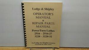 Title Lodge Shipley Powerturn Lathes Combo Manuals