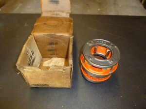 New 12r Ridgid 1 1 4 Pipe Threader Die Great Condition Steel Box