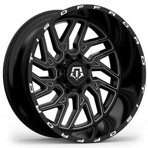 4 20x12 Black Tis Tis544 544bm 8x6 5 44 Nitto Terra Grappler G2 305x50r20 Ri