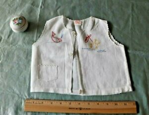Baby S Vintage C1930 Hand Embroidered Cotton Lawn Top Teddy Bear