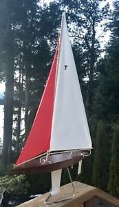 31 T Class Racing Sloop Toy Model Wooden Pond Yacht Sail Boat Sailboat Ship