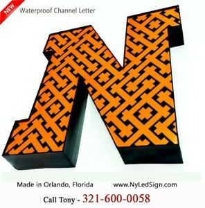 New Led Channel Letter Sign 16 Beautiful Face Textured Design Custom Made