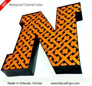 New Led Channel Letter Sign 12 Beautiful Face Textured Design Custom Made