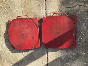 Alignment Rack Red Hunter Fmc Steel Car Light Truck Turn Plate Table Set