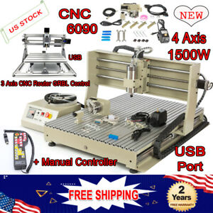 Usb 4 Axis 1500w 6090 Cnc Router Engraving Cutter 2417 Engraver Controller