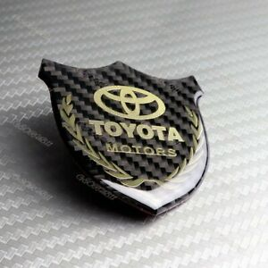 3d Carbon Fiber Car Front Body Trunk Rear Side Badge Emblem Sticker For Toyota