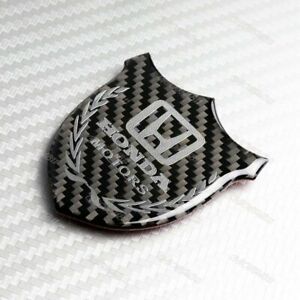 For Honda Vip Carbon Fiber Car Front Body Trunk Rear Side Badge Emblem Sticker