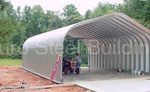 Durospan Steel 30x20x14 Metal Shed Diy Home Building Open Ends Factory Direct