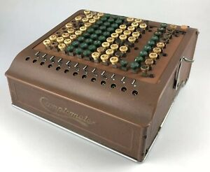 Antique Adding Machine Computer Comptometer Model K Rare Felt And Tarrant