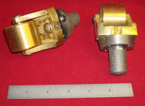 2 New Vintage Solid Brass Cast Iron Crazy Wheel Wheels Caster Casters Wow