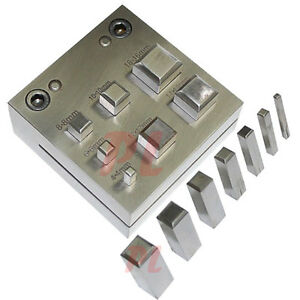 Square Shape 4 16 Mm Disc Cutter Metal Craft Hole Puncher Punches 3 16 5 8