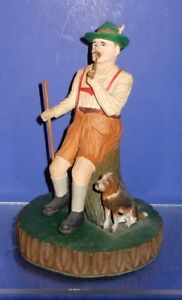 Swiss Black Forest Carved Incense Burner Smoker Hunter With Pipe