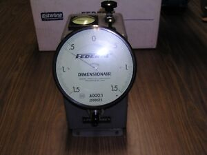 Federal Dimensionair D 4000 Air Gage Large Dial Series Esterline Mahr Excellent