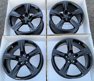 20 Chevy Camaro Gloss Black Wheels Rims Set 4 Factory Oem Original Ss Chevrolet