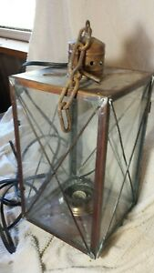 20 Vtg Outdoor Maritime Nautical Ship Oil Lamp Brass Lantern Electric Light