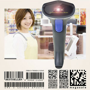 Wireless Barcode Scanner 2 4ghz Handheld Barcode Reader Usb Rechargeable Ios Mac