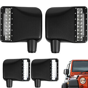 2pcs Xprite Led Turn Signal Side Mirror Light Housing For 07 18 Jeep Wrangler Jk