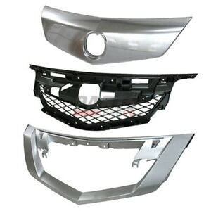 2009 2011 Acura Tl Front 3 Pcs Kit Includes Grille Frame Grille