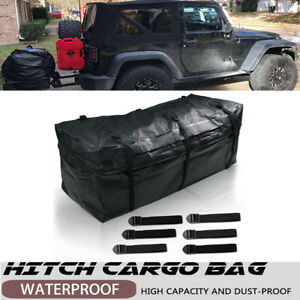 Waterproof Luggage Tow Trailer Hitch Cargo Carrier Bag Fit Cars Heavy Duty Strap