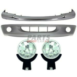 1997 2000 Dodge Dakota Front Lh Rh 4 Pcs Kit Includes Fog Light Bumper Face Bar