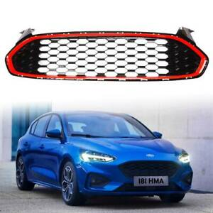 For Ford Fusion 2013 2016 Front Bumper Upper Grille Mustang Red Honeycomb Style