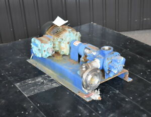 Used Gormann Rupp Gear Pump 2 Inlet Outlet 316 Stainless Steel