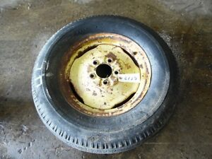 John Deere Tractor Front Tire rim 6 50 15 5 Lug Tag 6127