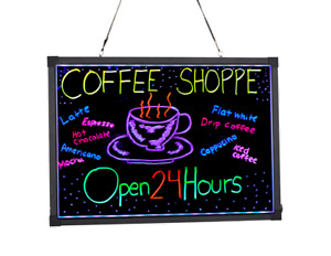 Alpine Aluminum Led Hanging Writing Memo Board Business 20 X 28 Message Sign