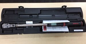 Snap on 1 2 Digital Torque Wrench Flex Head Angled Atech3fr250b 12 5 250 Ft Lb