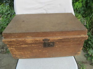 Old Antique Primitive Wooden Box Tool Box Hand Made