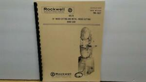 Rockwell 14 Wood And Metal Cutting Band Saw Manual