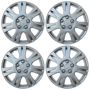4 Piece Set 15 Inch Hub Cap Silver Skin Rim Cover For Steel Wheel Covers Caps