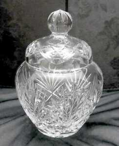 Crystal Glass Apothecary Jar Biscuit Cookie Canister Jar W Dome Lid European