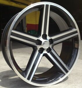 20 Inch Iroc Wheel And Tire Package Black Machine Fits Rwd Charger 5x115