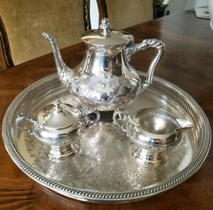 Barbour Bros Co Quadruple Silver Coffee Tea Set