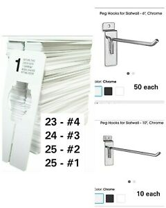 6 Inch Chrome Peg Hook For Slatwall slatwall Hooks 50 Pack Bonus