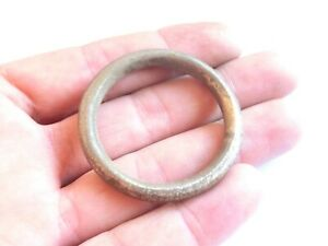 Exquisite Huge Ancient Celtic Silver Suspension Ring Proto Money 300 Bc