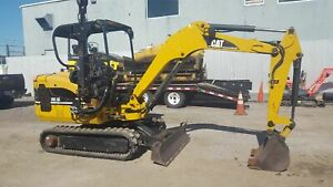 2006 Caterpillar 302 5 Only 25 75 700 Hours Winch Compressor Attachment