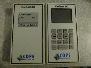 Scope Communication Wirescope 100 Cable Analyzer Dual Remote 100