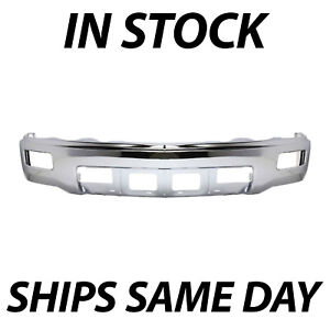 New Chrome Front Steel Bumper Face Bar For 2014 2015 Chevy Silverado 1500 W Fog