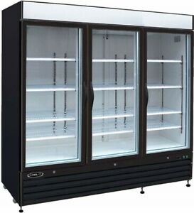 Kool it Kgf 72 Dv Commercial Freezer With 3 Glass Doors great Shape
