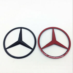 90mm Benz Star Trunk Emblem Rear Badge Black Logo Sticker