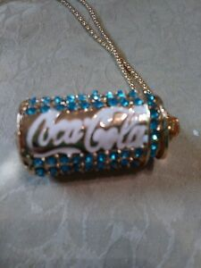 Betsey johnson blue crystal Coca-Cola necklace